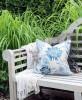 Poduszka Hamptons Nº 3 Ava, poszewka dekoracyjna, styl Hampton
