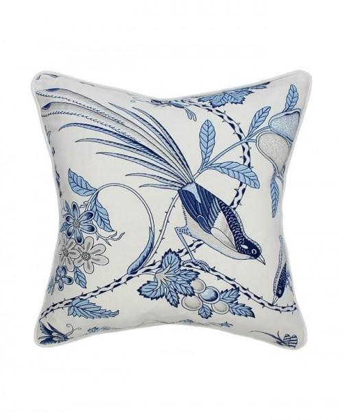 Poduszka Hamptons Nº 11 Daphne Birds, poszewka dekoracyjna, styl Hampton