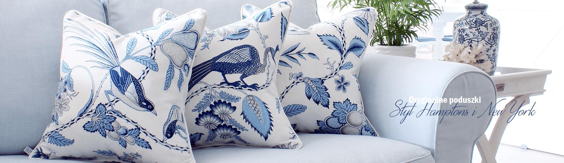 Poduszki dekoracyjne - styl Hamptons, amerykański, nowojorski, Hampton